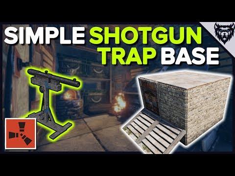 RUST - The Simple Shotgun Trap - EASY Rust Trap Base Design (2019)