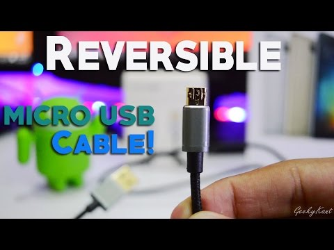 Reversible Micro USB 2.0 Cable Review!