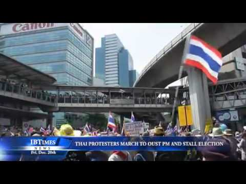 Thai Protesters March to Oust PM and Stall Election
