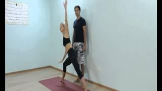 Аштанга йога для начинающих.  Урок № 8. ПаршваКонасана А