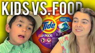 KIDS EAT TIDE PODS | Kids Vs. Food