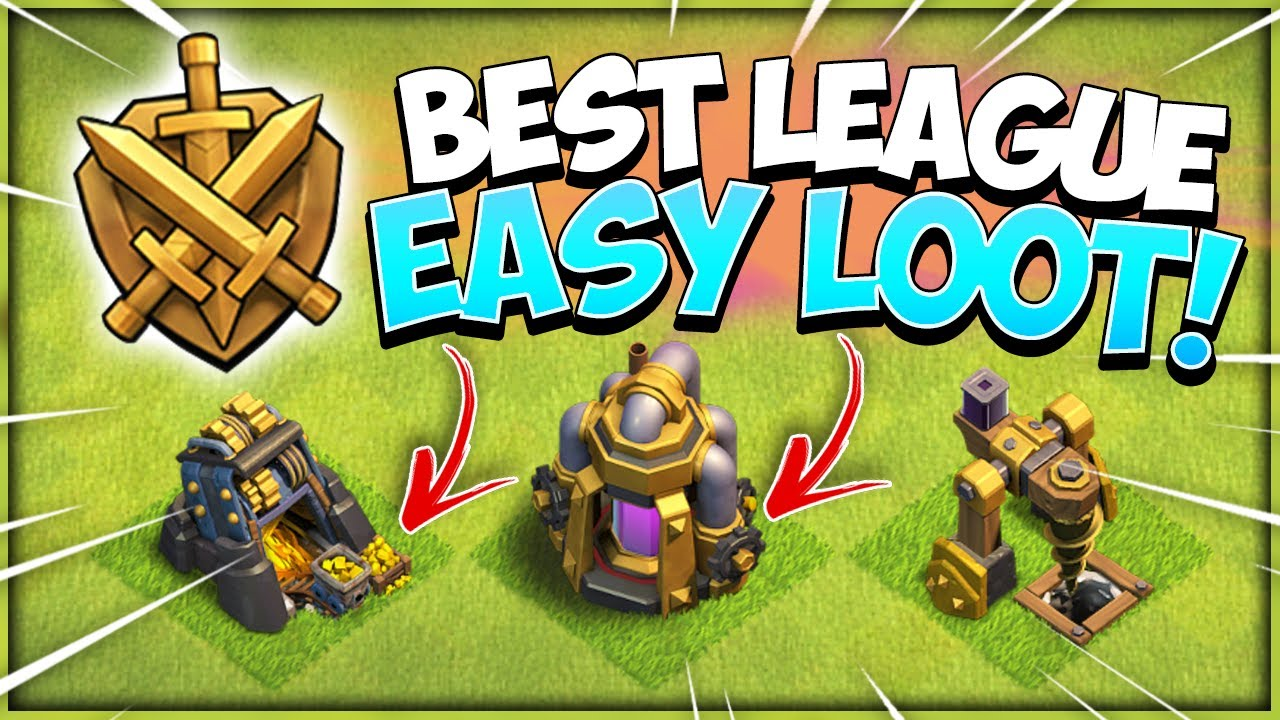 Best Farming League For TH10 with Proof! TH10 No Hero Farming (Clash of Clans)