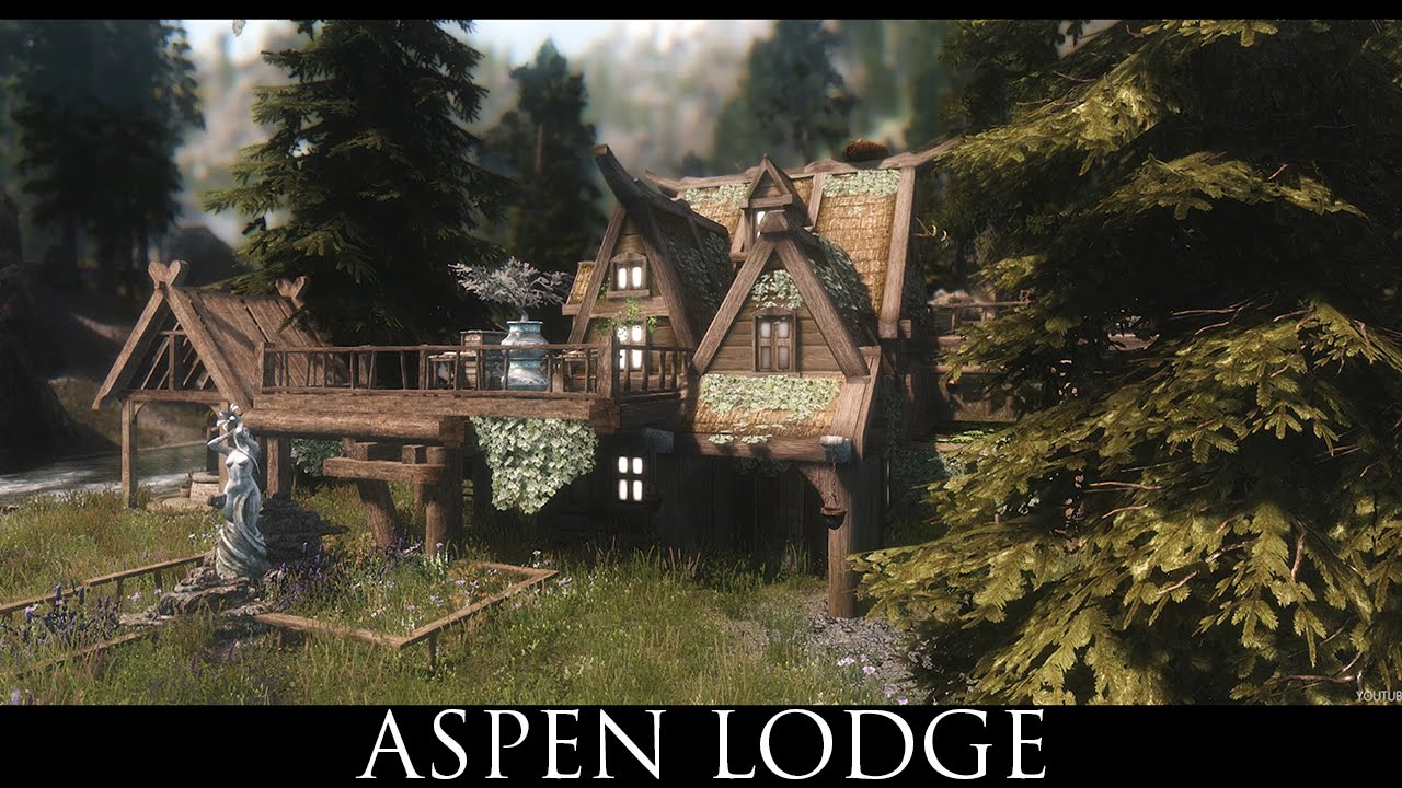 Tes v skyrim mods aspen lodge youtube for The aspen lodge