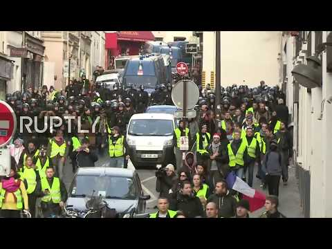 LIVE: 'Yellow Vest' protests hit Paris for the sixth consecutive week
