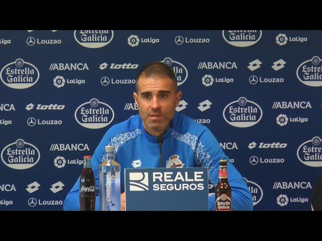 Garitano en la rueda de prensa previa al partido contra UD Las Palmas