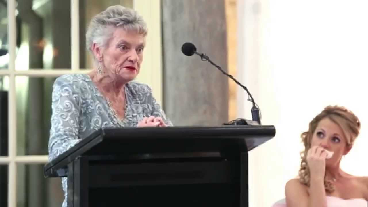 Bride's Grandmother Tells a Dirty Joke at Wedding Reception