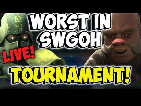 WORST Hero in SWGOH TOURNAMENT! | Star Wars Galaxy of Heroes