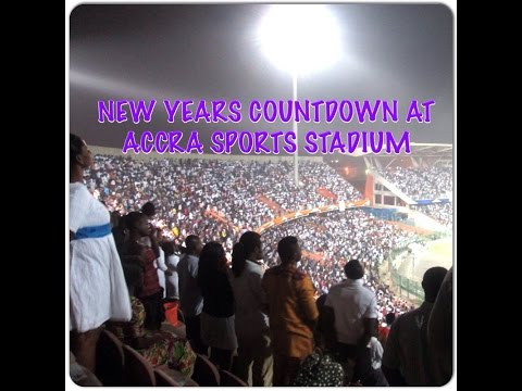 New Years countdown at Accra Stadium 2015 (Don't mess with Ghanaians & church!)