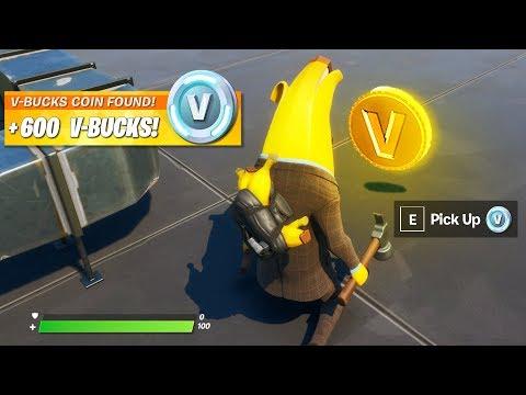 HOW TO GET VBUCKS COIN IN FORTNITE! (V-Bucks Coin Location)