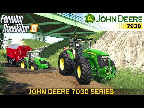 Farming Simulator 19 - JOHN DEERE 7030 SERIES Pulls The Tractor And Trailer Out Of Dirt