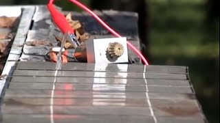 DIY Solar USING broken cells Electric Panel SOLDER FREE connections WIRE GLUE