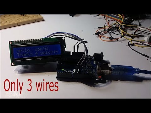 Making LCD 16x2 driver with Arduino using 3 wires on arduino lcd wiring, 2x16 lcd wiring, 16x2 lcd-display pinout,