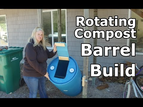 Rotating Composting Barrel Build