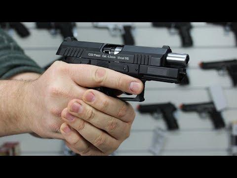Pistola De Pressão CO2 4.5 W129 CZ300 Semi-Automática Blow Back