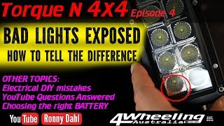 BAD 4x4 LIGHTS EXPOSED how to tell the difference, TORQUE N 4X4 E4
