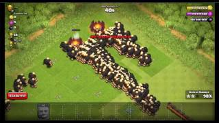 10000 Giants VS 10000 Goblins VS Inferno Tower Trolls Attacks Clash Of Clans PS