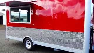 For Sale Metallic Food Cart-concession Kitchen 8×16