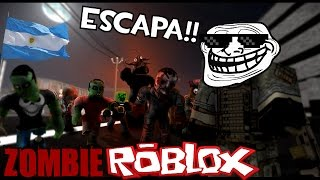 ESCAPE OF ZOMBIES IN THE COMMERCIAL CENTER!!!    ROBLOX Argentina (with SmitoCap)