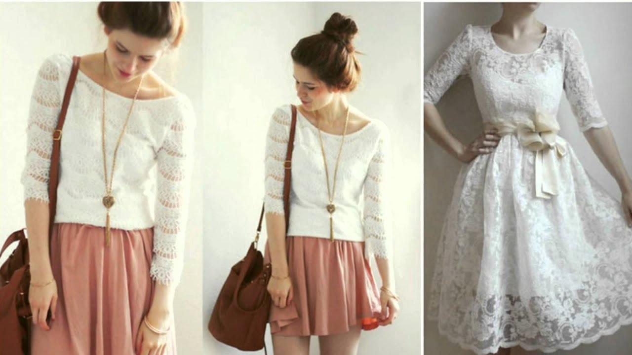 Носить белое кружевное платье