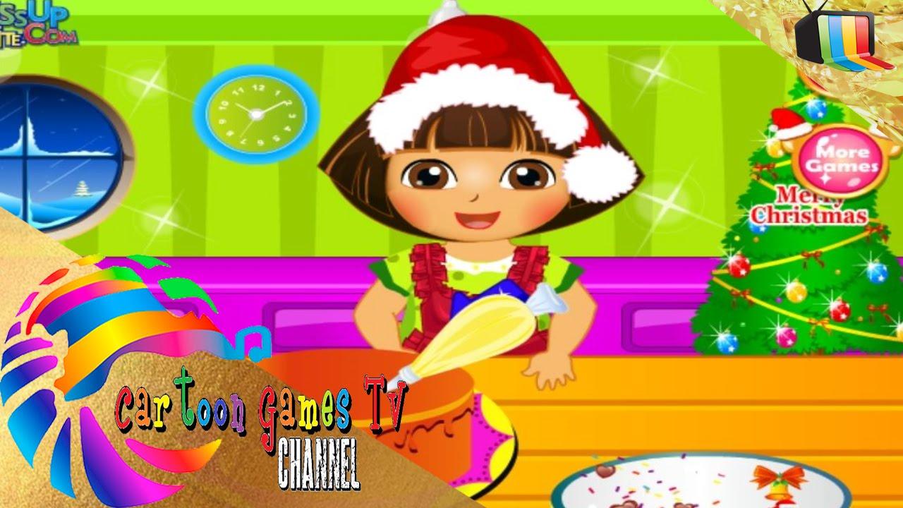 Juegos De Dora De Cocinar | Dora Cocinar Pastel De Navidad Juegos De Dora La Exploradora