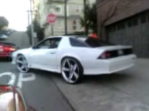 Street Actions SF Rideout President Iroc on 24s - YouTube