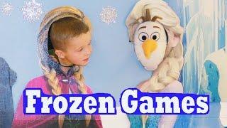 FROZEN GAMES & RIDES! Elsa Disney Princess Anna Olaf BIRTHDAY PARTY IDEAS Children