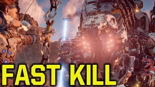 Horizon Zero Dawn tips and tricks - KILL THUNDERJAW in 11 seconds - BEAT THAT?!!