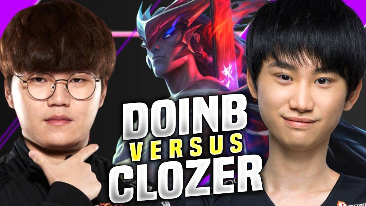 DOINB PLAYING YONE MID vs CLOZER! - FPX Doinb Plays Yone vs T1 Clozer Irelia! | KR SoloQ Patch 10.16