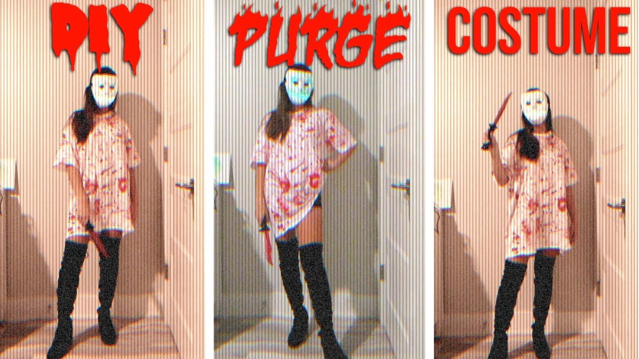 Diy Purge Costume Watch Me Make This Basic Af Costume Youtube