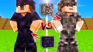 BEDROCK SET VS OBSIDIAN SET (Minecraft)