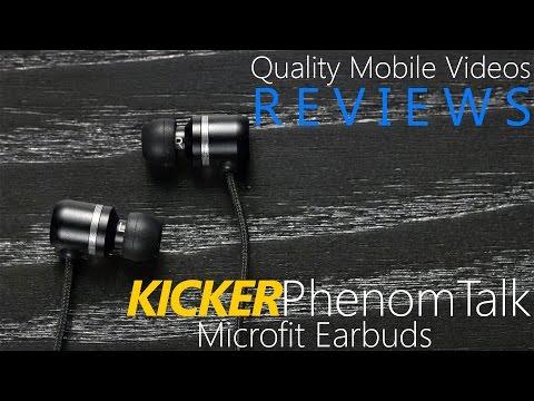KICKER Phenom Talk Microfit Earbuds