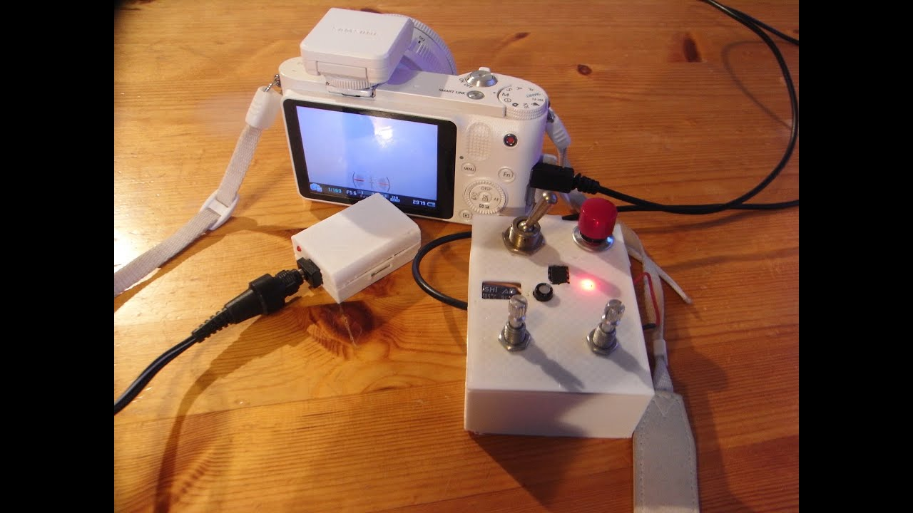 Making an Intervalometer and Power Supply for the Samsung NX1100 Camera