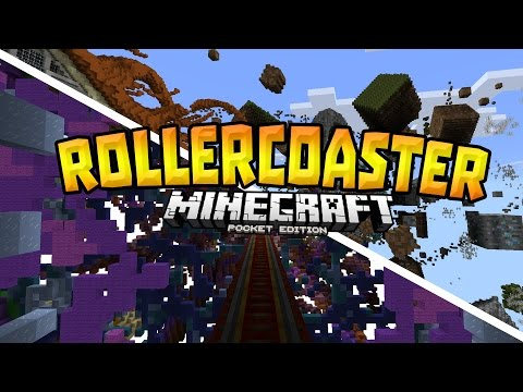 MCPE 0.15.4 ROLLERCOASTER!!! - Best Rollercoaster Ever - Minecraft PE (Pocket Edition)