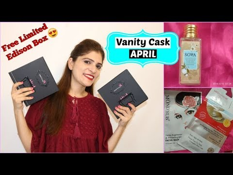 Vanity Cask April 2018 - Shades of April Edison + Free Thalgo Kit | Indian Mom Sonia