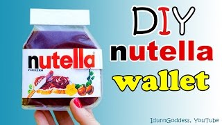 How To Make A Nutella Wallet – DIY Nutella Wallet