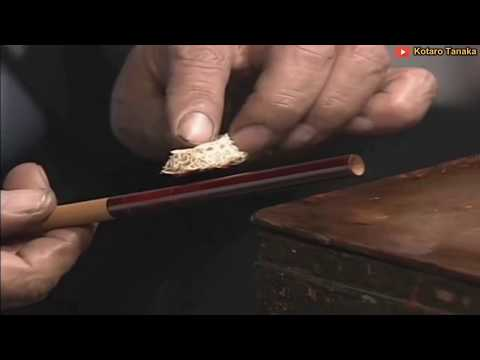 Ancient Technology Of Making Edo Fishing Rods - Building An