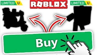 BUYING NEW LIMITED ITEMS!! *RARE* (Roblox)