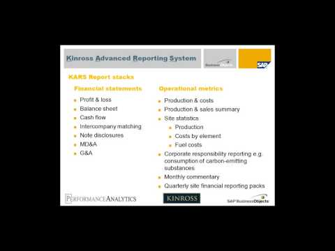 Kinross Strikes Gold with Advanced Reporting Webinar