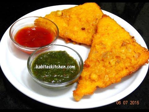 Bread Pakora Recipe-Quick Bread Fritters-Easy and Quick Indian Snacks Recipe