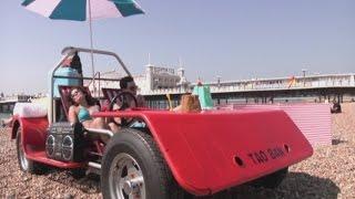 World's First Driveable Deckchair Hits Brighton Beach