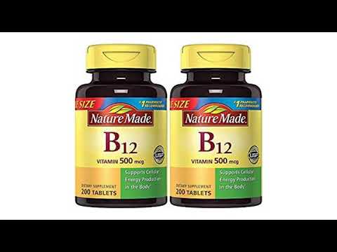 4594112b517 VITAMINS BEST Sellers for AMAZON Must See Review! Nature Made Vitamin B12  500 mcg. Tablets Value.