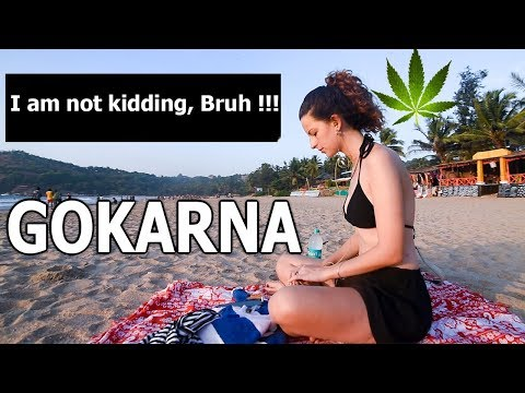 Goa to Gokarna in 100 rs | Hippie Paradise of Stoners | Kudle beach Drone Shots | Tm Vlogs