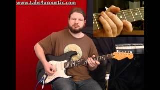 Cours de guitare : Legato : hammer-on et pull-off (débutant) - Partie 1