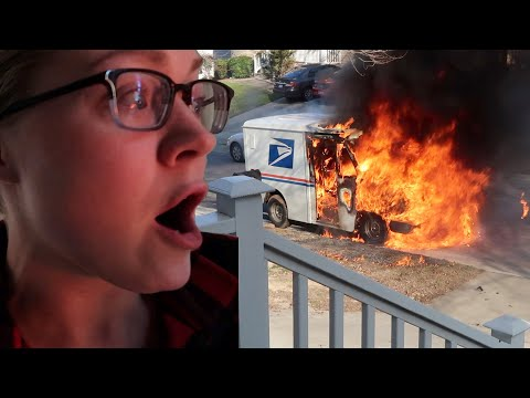 Download THE MAIL TRUCK BLEW UP IN OUR FRONT YARD! 😱