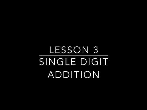 Single Digit Addition Lesson 3