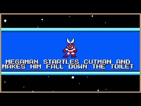 Mega Maker, #2 - Megaman Startles Cutman and Makes Him Fall Down the Toilet