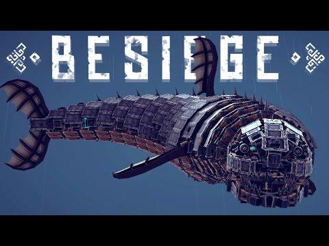 Besiege Best Creations -Flying Giant Shark, Sniper Tank, Rocket Roller Coaster & More!