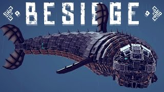Besiege Best Creations -Flying Giant Shark, Sniper Tank, Rocket Roller Coaster & More! thumbnail
