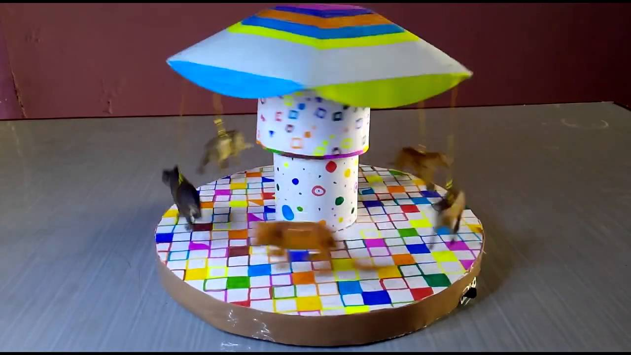DIY carousel amusement ride by