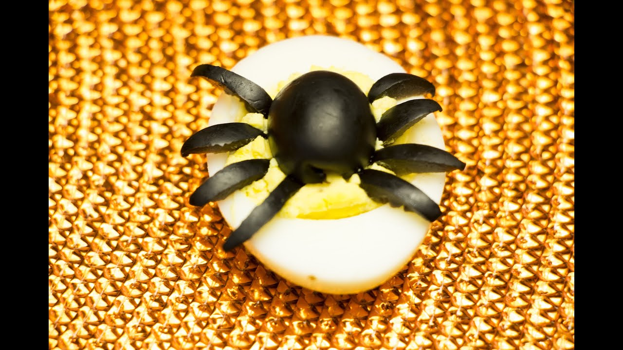 how to make spider deviled eggs for halloween diy - Deviled Eggs For Halloween Spider